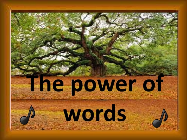 The power of words<br />