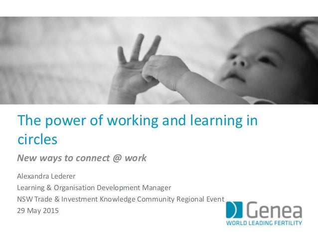 The power of working and learning in circles New ways to connect @ work Alexandra Lederer Learning & Organisation Developm...