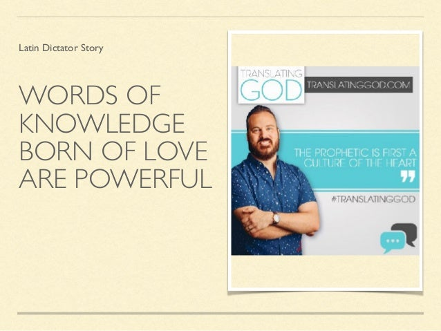 The Power Tools of God: Word of Knowledge Gift