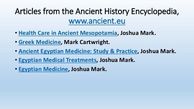 The practice of medicine in ancient civilizations