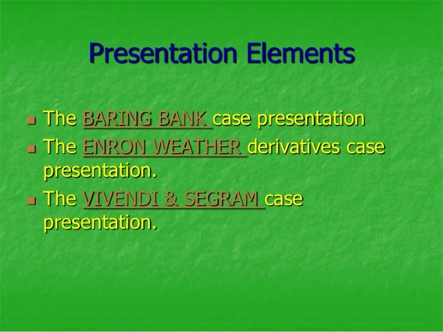 barings bank summary It details the collapse of barings bank in the mid-1990s due to the machinations of nick leeson, who lost £827 million ($13 billion)  summary edit the film.