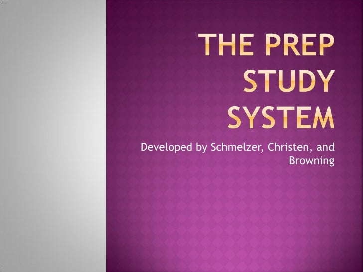 Developed by Schmelzer, Christen, and                            Browning