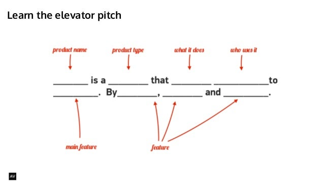 Learn the elevator pitch  @AYNNE