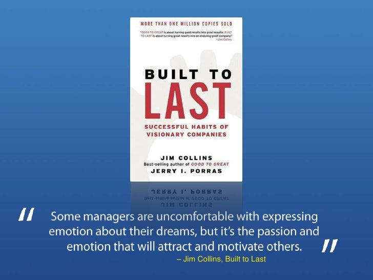 Some managers are uncomfortable with expressing emotion about their dreams, but it's the passion and emotion that will att...