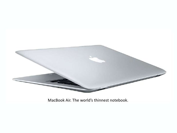 MacBook Air. The world's thinnest notebook.<br />
