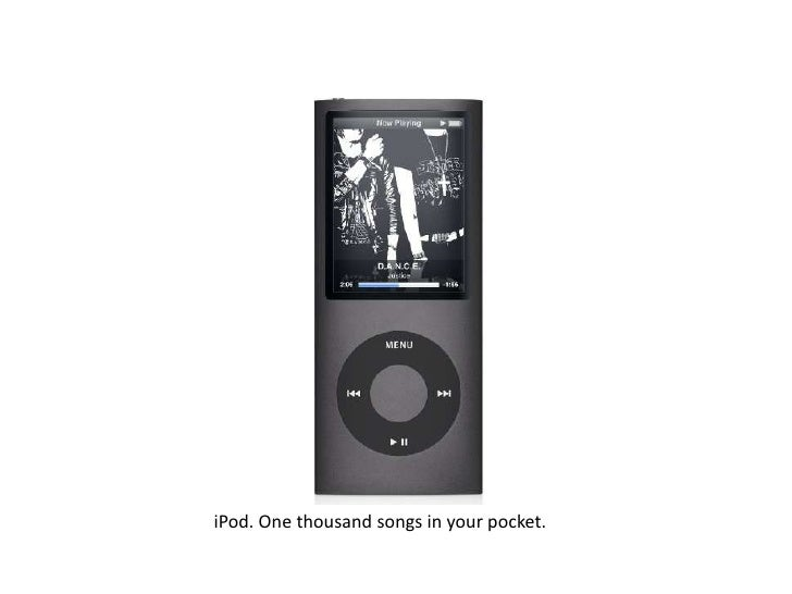 iPod. One thousand songs in your pocket.<br />