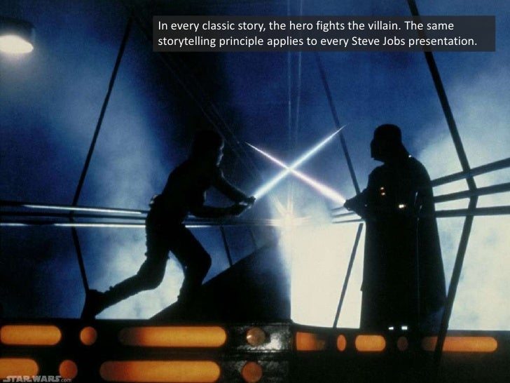 In every classic story, the hero fights the villain. The same storytelling principle applies to every Steve Jobs presentat...