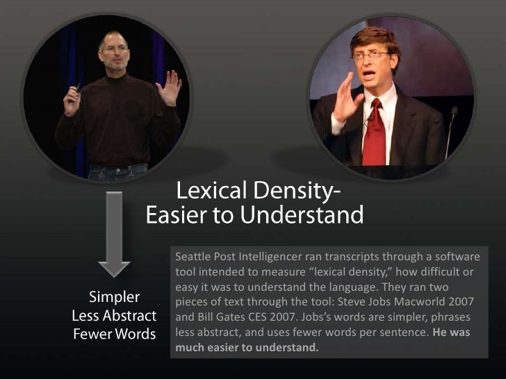 Lexical Density-<br />Easier to Understand<br />Simpler<br />Less Abstract<br />Fewer Words<br />Seattle Post Intelligence...