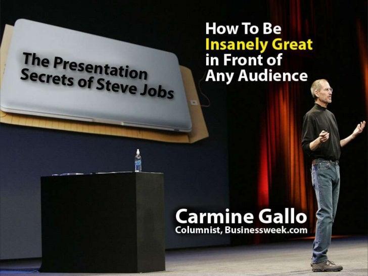 The Presentation Secrets Of Steve Jobs Slide 1