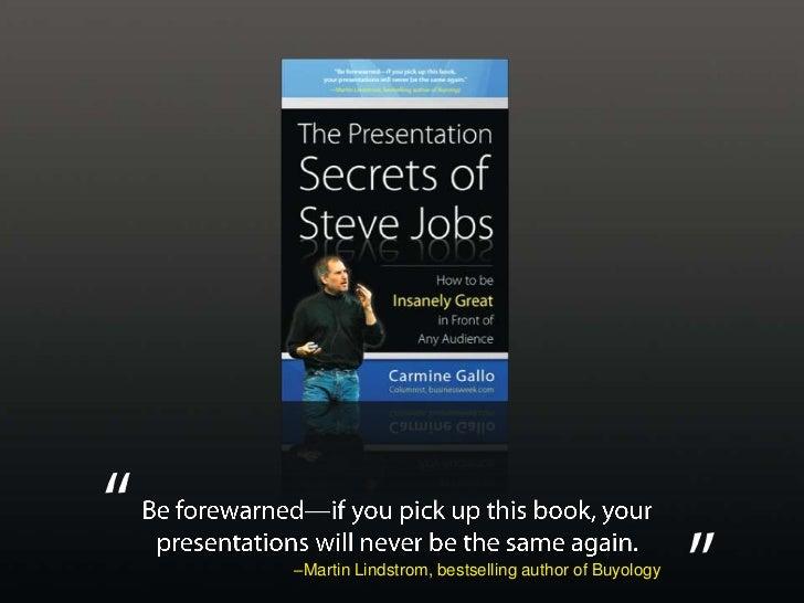 The Presentation Secrets Of Steve Jobs Slide 3