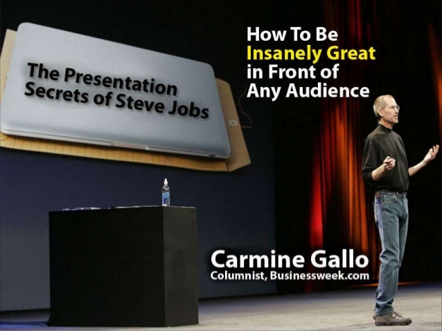 This presentation is given live by Carmine Gallo but so the knowledge can be shared in this format, we've created notes fo...
