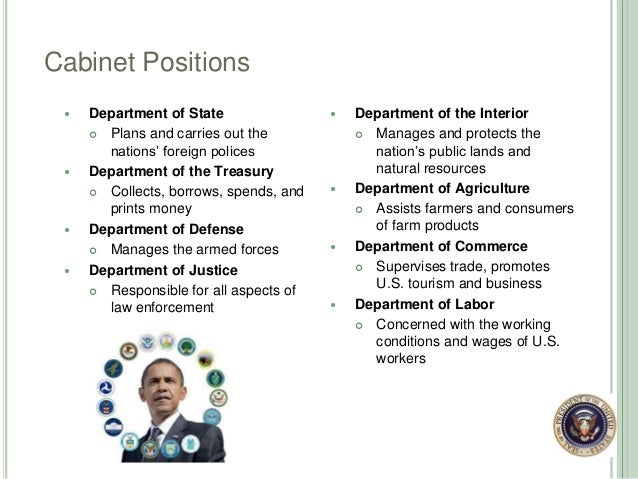 Cabinet Positions ...