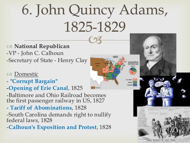 james monroe and john quincy adams foreign policy of 1817 1825 The son of president john adams, john quincy adams was a frequent companion on his father's foreign-service  state for president james monroe from 1817 to 1825.