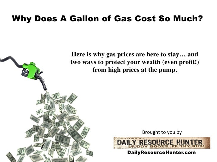 Why Does A Gallon of Gas Cost So Much?           Here is why gas prices are here to stay… and 	           two ways to prot...
