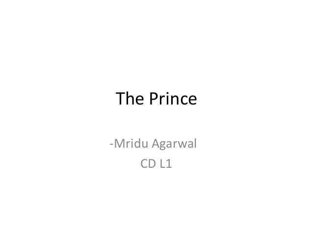 The Prince -Mridu Agarwal CD L1