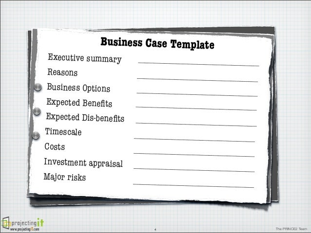 The prince2 business case