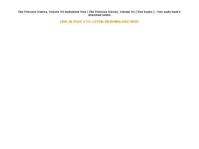 Princess diaries book 1 free download.