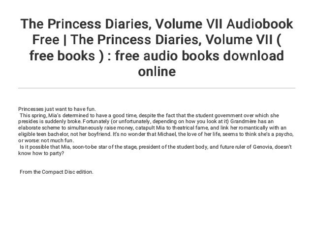 The princess diaries. Volume ii audio story books   teen.