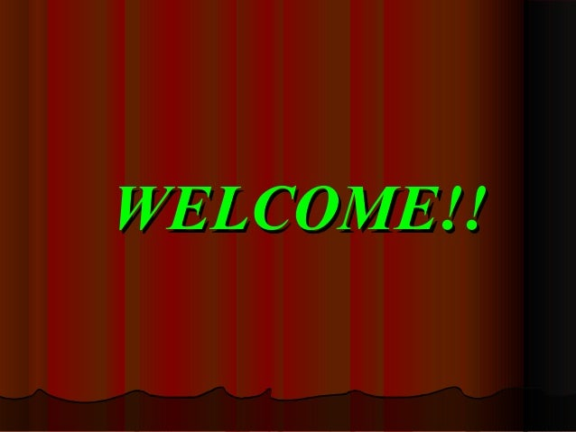 WELCOME!!WELCOME!!