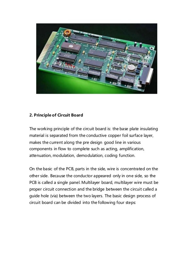 The principle of printed circuit boards