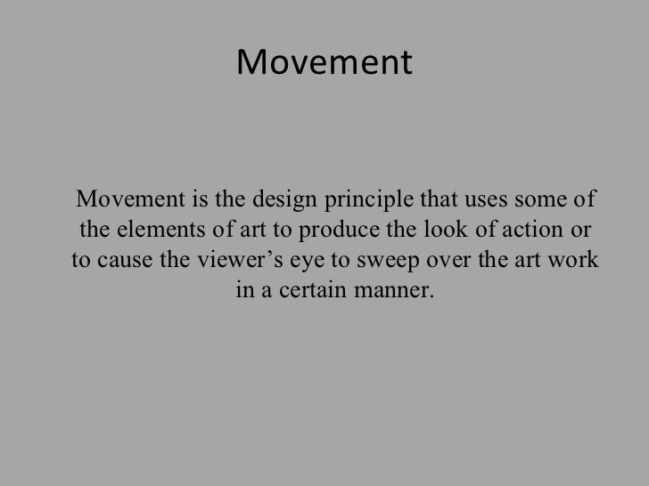 Movement Element Of Design : The principles of design