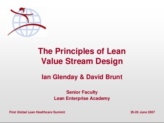 Principles Of Design Value : The principles of lean value stream design