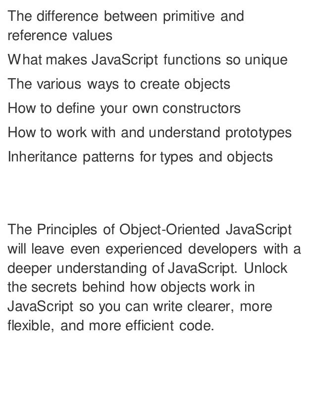 Object Oriented Design Patterns In Javascript