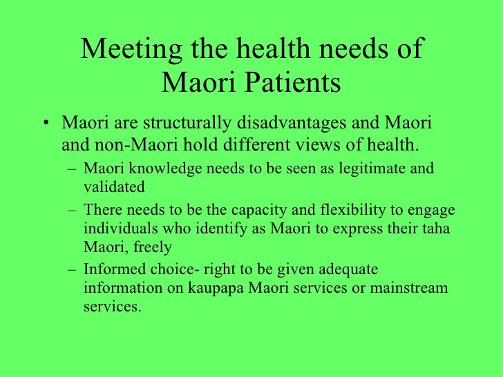 the treaty of waitangi and maori health Signed in 1840, the tiriti o waitangi (treaty of waitangi) is an agreement between māori chiefs and the crown as outlined on the new zealand history website , the three articles of the treaty: give protection, rights and benefits to māori as british subjects.