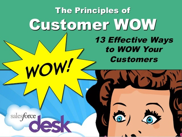The Principles ofCustomer WOW          13 Effective Ways            to WOW Your             CustomersWO W!