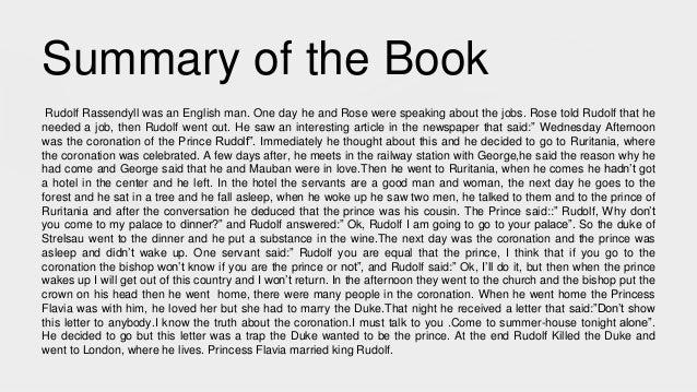 The Prisoner Of Zenda Book Summary and Study Guide