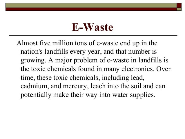 solutions to the e waste problem Solutions to e- waste problem essay  more about solutions to electronic waste essay solutions to the problem of electronic waste essay 1065 words | 5 pages.
