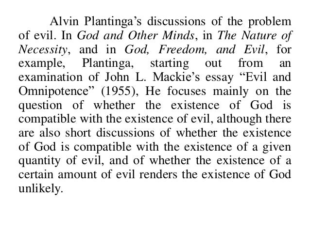 the problem of evil and suffering essay To love and trust god in the face of horrendous suffering added to this is the fact  that many of the essays take the logical or evidential problems.