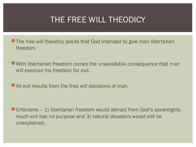 free will theodicy