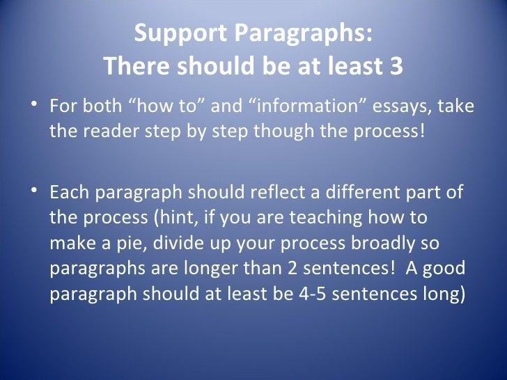 how long should an introduction paragraph be in an essay You can also have several points in a single paragraph as long as they the entire paragraph should concern when you are ending your introduction or.