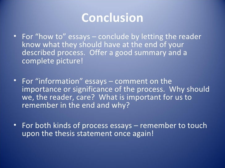the process and definition essay