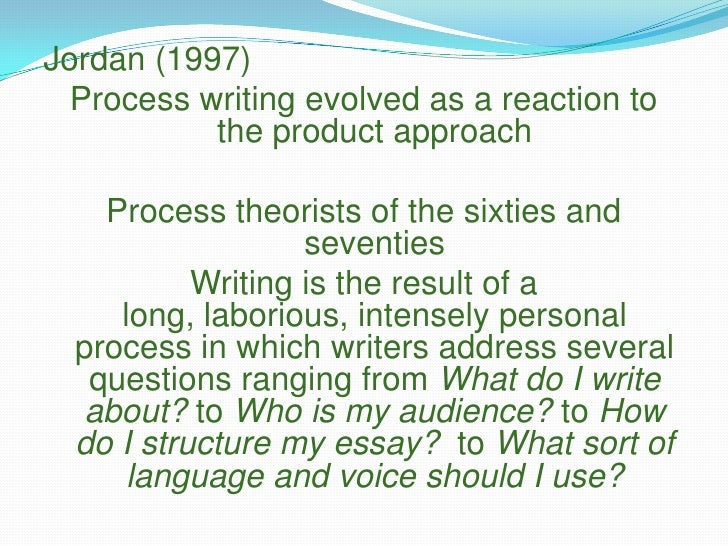process approach to writing Process approach as writing instruction in efl classrooms ii consent to use of ipp i hereby grant permission for world learning to publish my ipp on its.