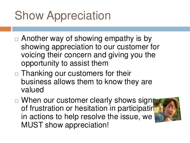 Showing Empathy To Customers