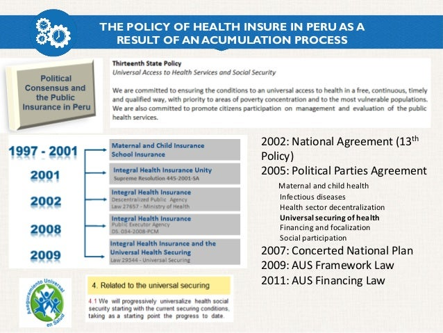 The Process Of Health Reform In Peru