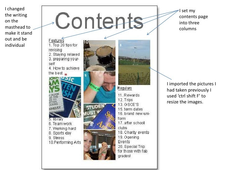 The process of making my school magazine,