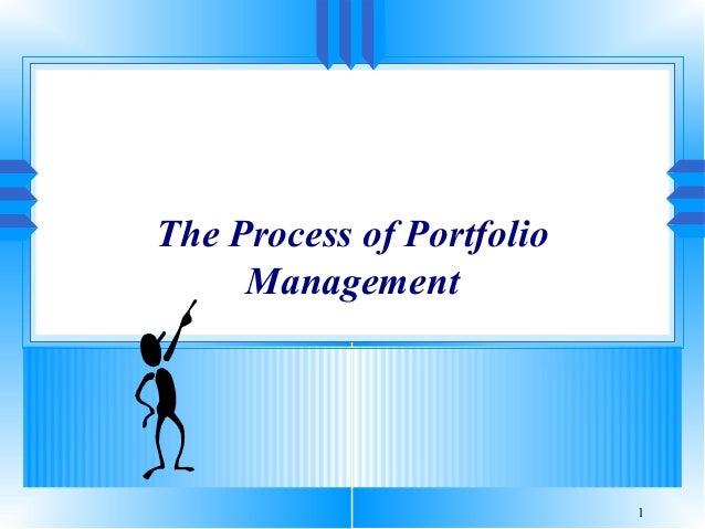 The Process of Portfolio Management  1
