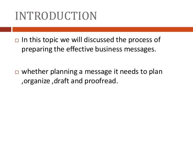 the process of preparing effective business messages rafia nazir 1511 112002 bba vi 2