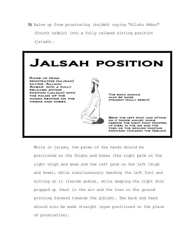 The process of sajdah (sujud) described in full detail www