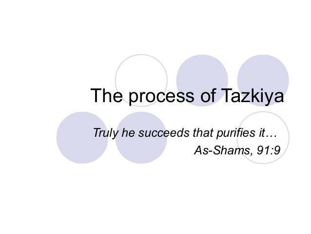 The process of Tazkiya Truly he succeeds that purifies it… As-Shams, 91:9