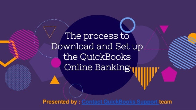 The process to download and set up the quick books online