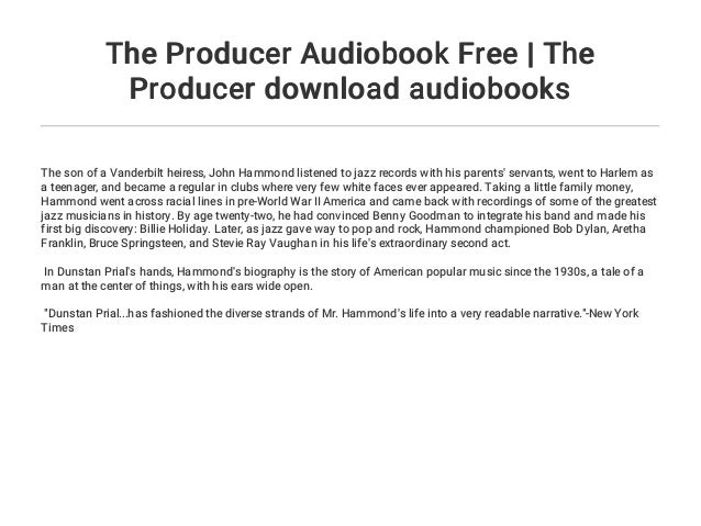 The Producer Audiobook Free   The Producer download audiobooks