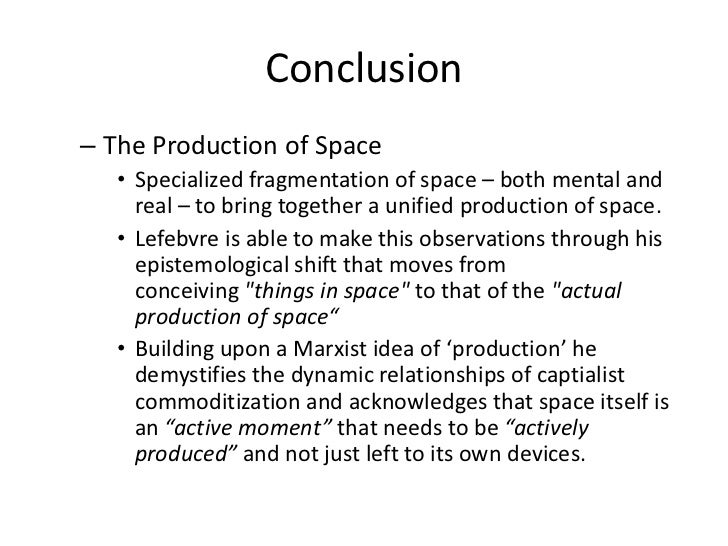 Lefebvre Production Of Space Pdf