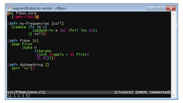 Demo ● Example Editor Command: > )