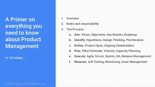 How to Build Good Products Well: The Product Management Manual Slide 2