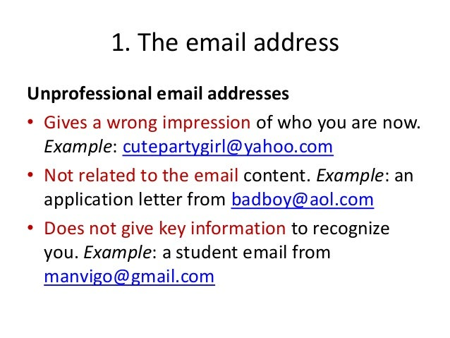 professional email example - anuvrat.info