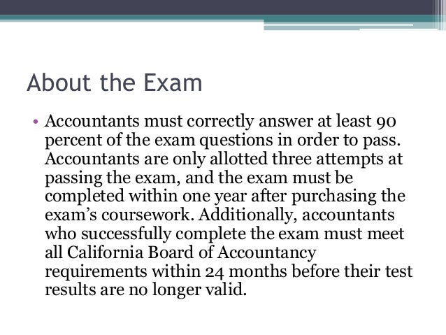 The Professional Ethics for CPAs Exam